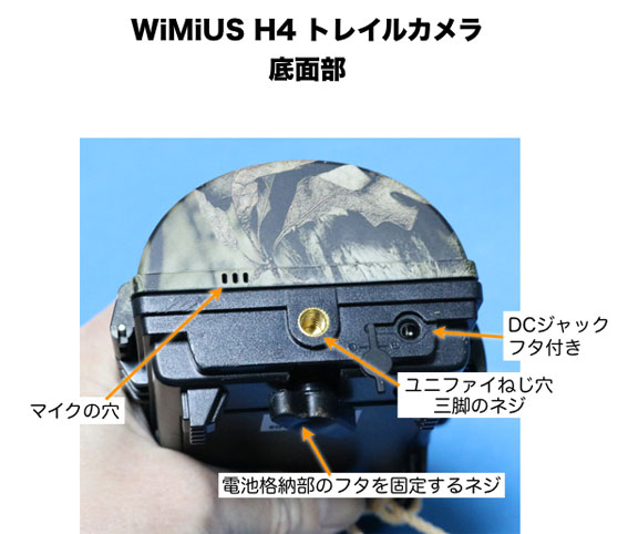 WiMiUS H4の底面部