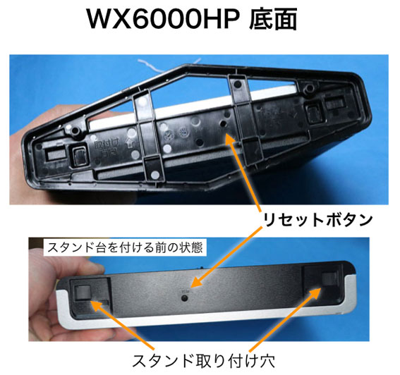 WX6000HPの底面