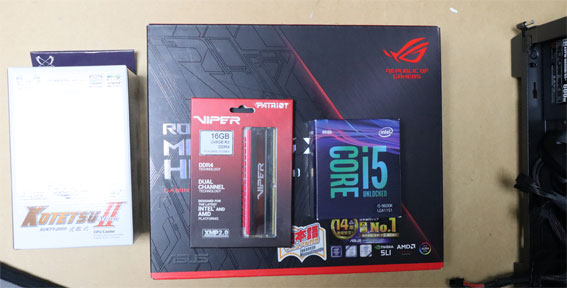 i5-9600K、Z390マザー、メモリー、他