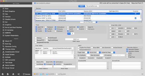 Clover Configurator でplistファイルを開く