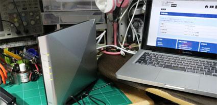 WX6000HPとMacBook ProをLANケーブルでつなぐ