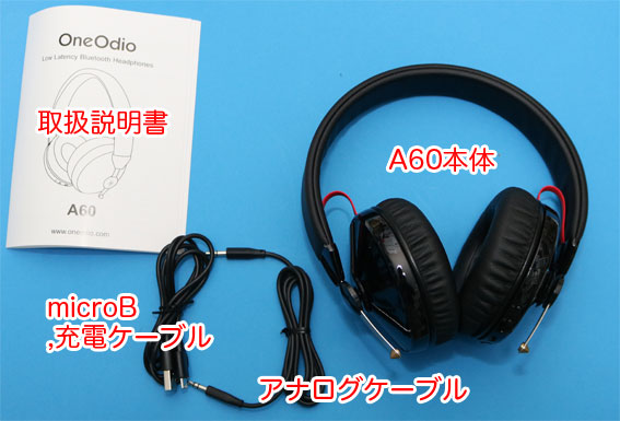 OneOdio A60同梱物