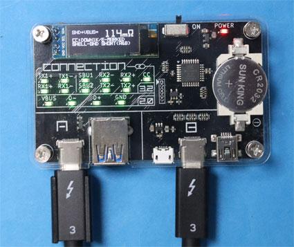 Wavlink m.2 NVMe SSDケース付属のThunderbolt 3ケーブル