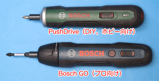 PushDriveとBosch GO