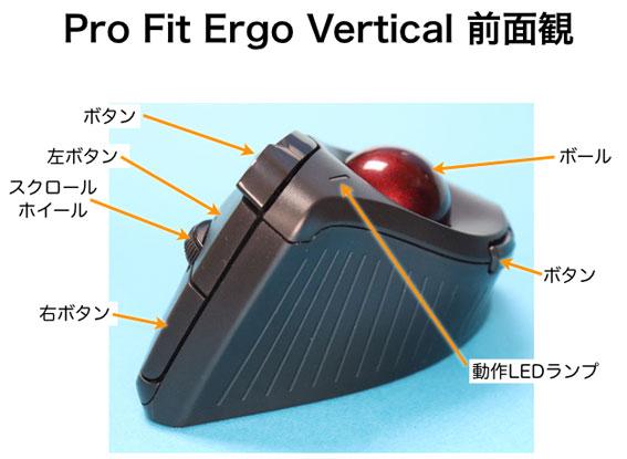 Pro Fit Ergo Vertical の前面観