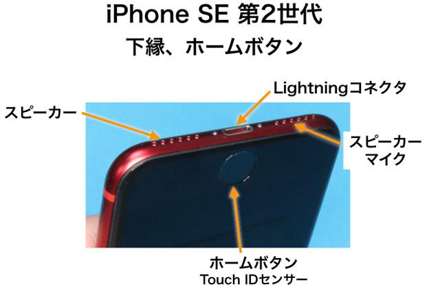 iPhone SE 第2世代 下部コネクタ ホームボタン