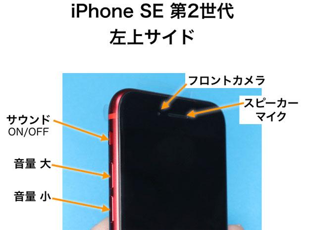 iPhone SE 第2世代 左サウドのボタン