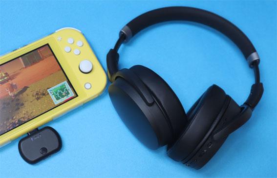 HD450BT、Nintendo Switch Lite、BT-TM700