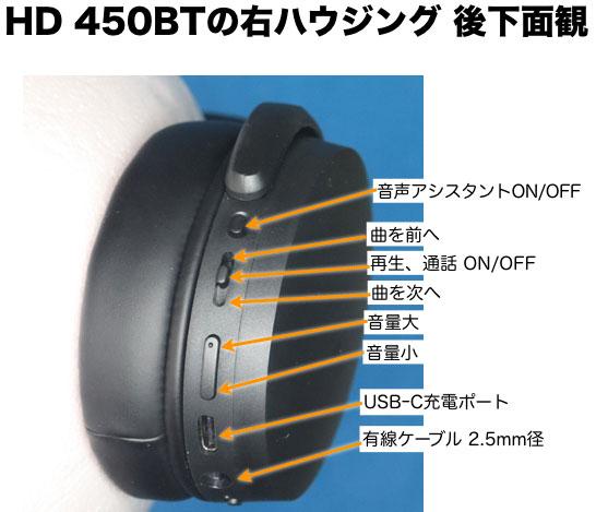 HD450BT 右ハウジング 後下面観