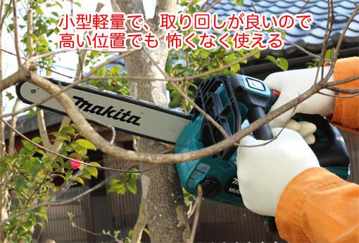 MUC254Dで庭の木を切る