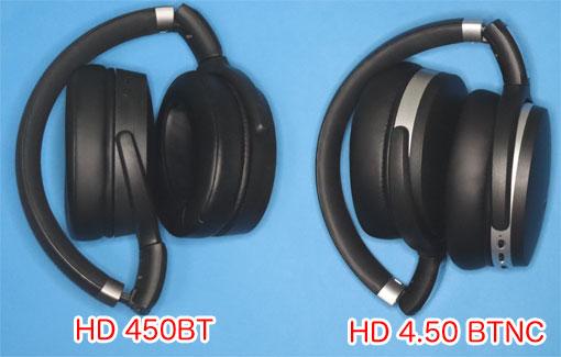 HD450BT と HD4.50BTNCを折りたたんだ状態で
