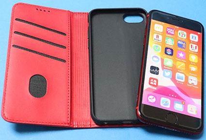 iPhone SE 2 に JDL 手帳型ケースをつける