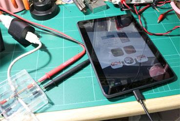 Fire HD 8 Plusを充電する時の電圧と電流を測定