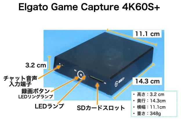 Elgato 4K60 S+ 正面観