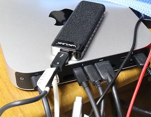 WavLink Thunderbolt 3 M2 SSDケースをMac mini M1 2020につないで使う
