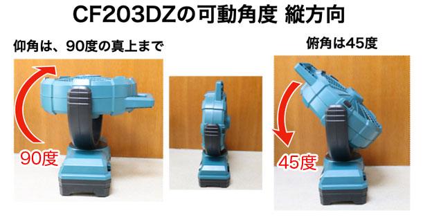 CF203DZの縦の首可動範囲