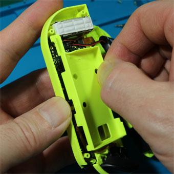 ジョイコン バッテリーケースを外す 引っ張る
