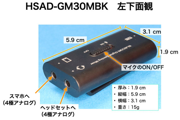 HSAD-GM30MBK 左下面観