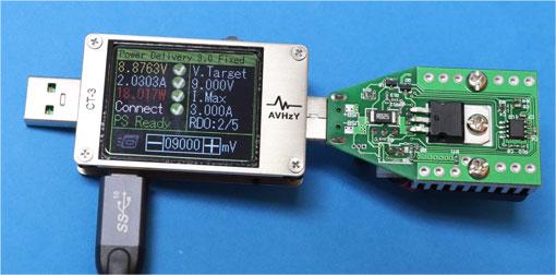 CT-3で、電圧を5V、9Vと変えられる