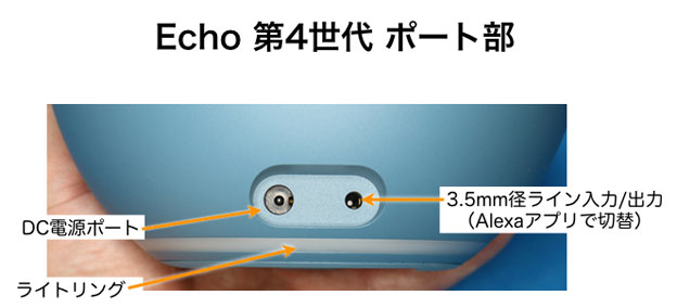 Echo 第4世代 ポート部