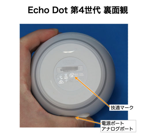Echo Dot 第4世代 裏面観