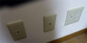 壁に敷設用のCD管の出口をつけてもらう
