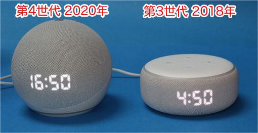 Echo Dot 第4世代と第3世代