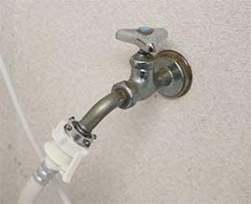 洗濯機につなぐ蛇口は、使う時だけ開ける