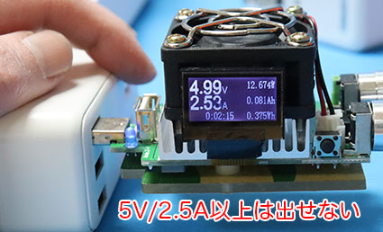 エレコム USBタップ ECT-03WH 出力テスト