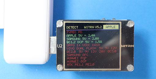 USBタップ ECT-10WHのUSB急速充電対応プロトコル