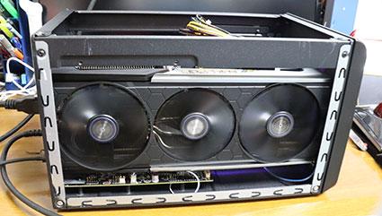 eGFX Breakaway BoxへRX 5700XTをつないでテストする