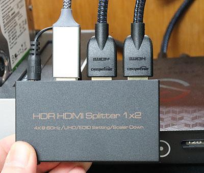 HDMIスプリッター 1×2 Ultra HD対応 HDRは非対応