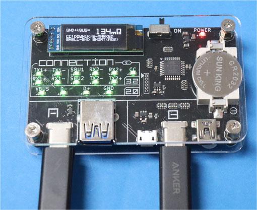 Anker Thunderbolt 3 ケーブルをUSB CABLECHECKER 2で調べてみた