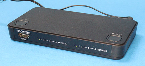 ラトックシステム RS-HDSW42-4K HDMIセレクター&スプリッター マトリックス型 4in2