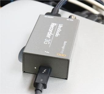 UltraStudio Recorder 3G 動作中