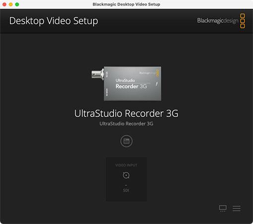 システム環境設定 Desktop Video Setup