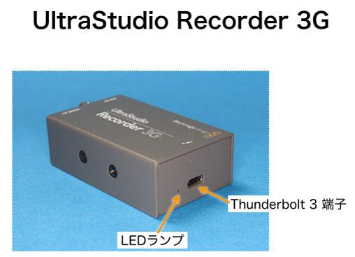UltraStudio Recorder 3G Thunderbolt 3側