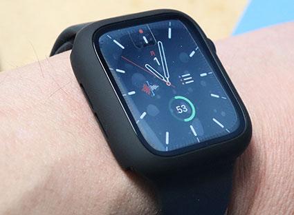 MIMASO Apple Watch ケースフィルム ゴミを巻き込んで気泡がはいりやすい