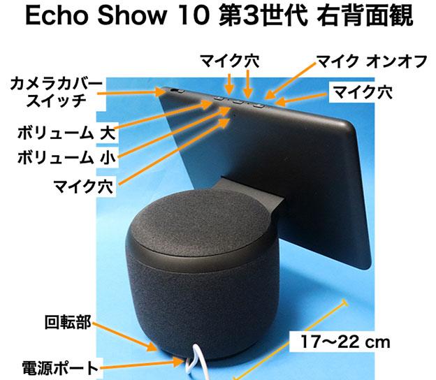 Echo Show 10 右背面観