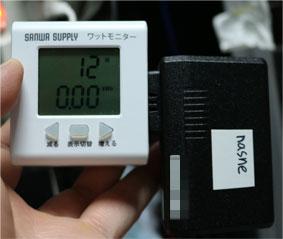 BUFFALO nasneの消費電力