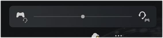 PLUSE 3D ワイヤレスヘッドセット CHAT/GAME ボタンのPS5での表示
