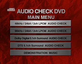 AUDIO CHECK DVD MENU
