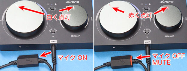Astro Mix Amp Pro TRとA40のマイクのON/OFFの関係