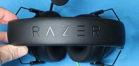 Razer BlackShark V2 X ヘッドバンド部ロゴ