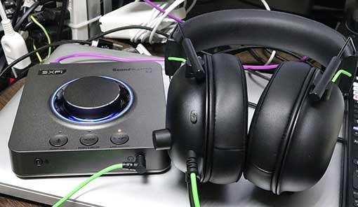 SoundBlaster X4 と BlackShark V2 Xで使う