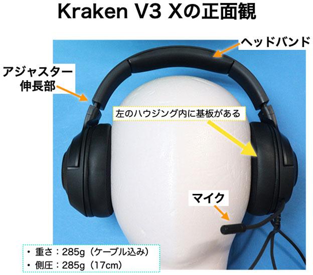 Kraken V3 Xの正面観