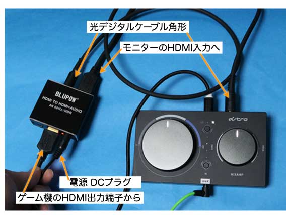 HDMI TO HDMI + AUDIO 4K 60Hz HDR BLUPOW VA98 実態配線