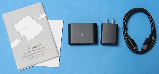 BELKIN SoundForm Connect AUDIO Adaptor with AirPlayの同梱物