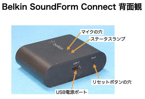 Belkin SoundForm Connect の背面観