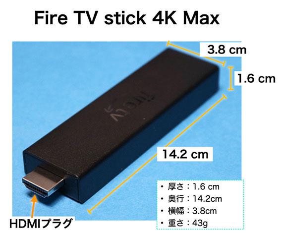 Fire TV stick 4K Max サイズ